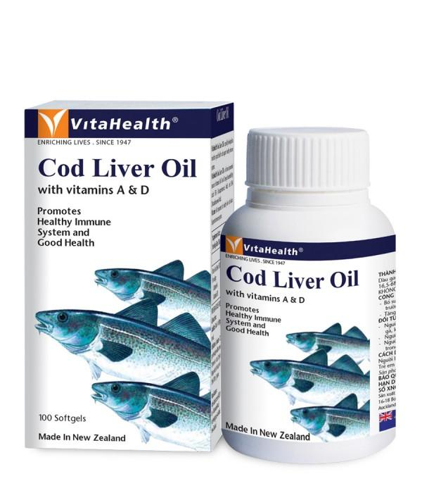 Bổ Mắt: Cod Liver Oil - Vitahealth