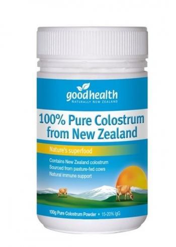 Tăng Miễn Dịch: Sữa non 100% COLOSTRUM  Goodhealth NEW ZEALAND