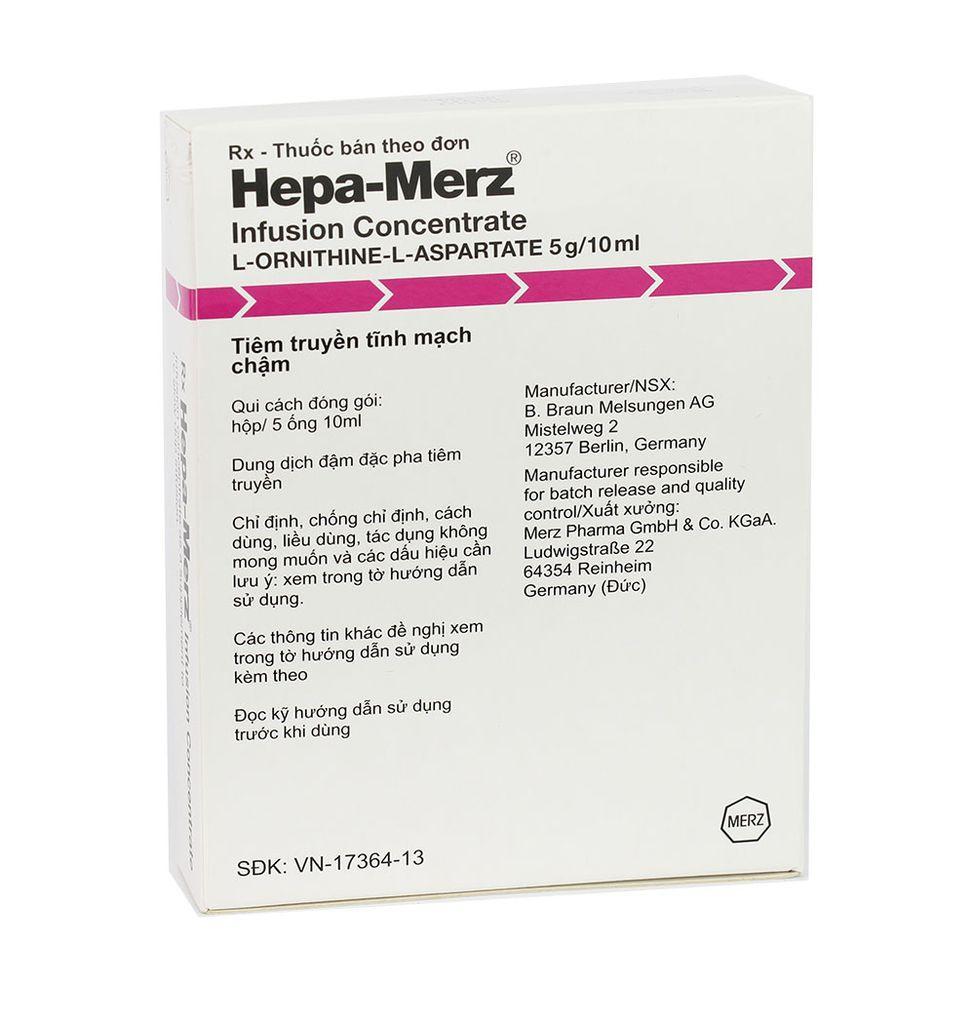 HEPA - MERZ IV (L-ornithine L-aspartate 5g)