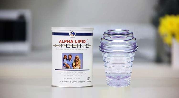 Bình lắc pha sữa ALPHA LIPID LIFELINE chuẩn New Zealand