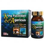 Tăng miễn dịch: KING FUCOIDAN & AGARICUS - Nhật 120 viên