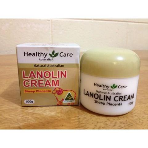 Kem nhau Cừu Healthy Care Lanolin Cream With Sheep Placenta, Úc 100g