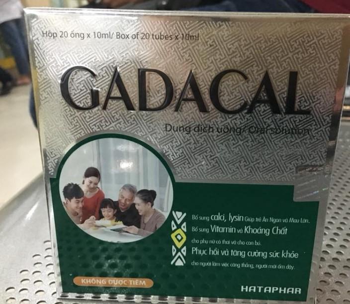 Gadacal – Bổ sung vitamin và khoáng chất