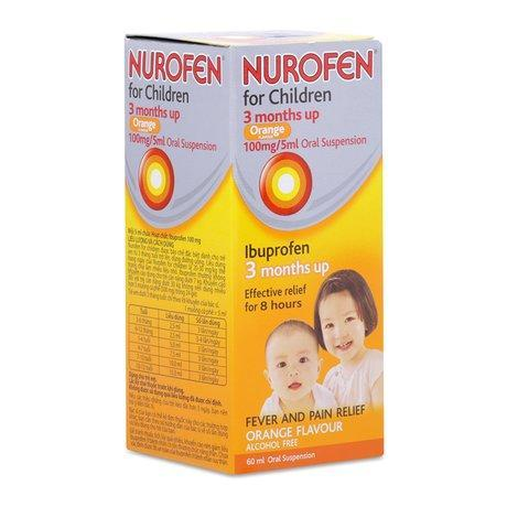 Thuốc hạ sốt & làm giảm đau cho trẻ em Nurofen For Children Orange (60ml)