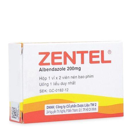Zentel 200mg (2 viên/hộp)