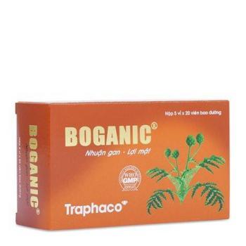 Thuốc bổ gan, lợi mật, thông tiêu, giải độc Boganic Traphaco (5 vỉ x 20 viên)