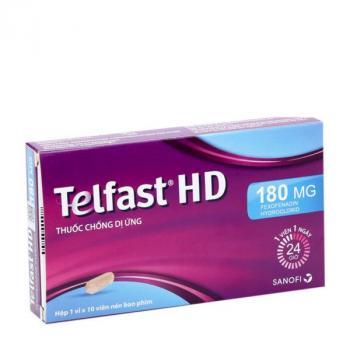 Telfast HD 180mg (1 vỉ x 10 viên/hộp)