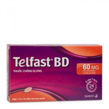 Telfast BD 60mg (1 vỉ x 10 viên/hộp)
