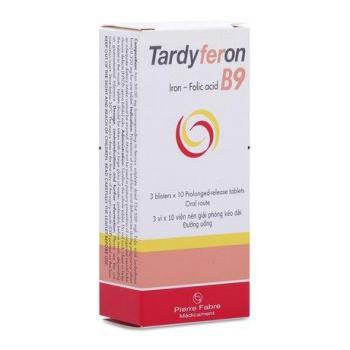 Tardyferon B9 (3 vỉ x 10 viên/hộp)