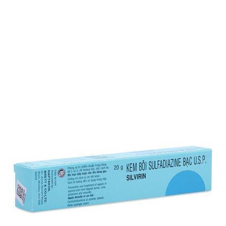 Kem bôi phòng ngừa và điều trị nhiễm khuẩn Silvirin (20g)
