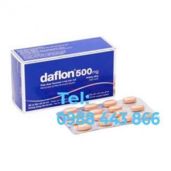 Thuốc trợ tĩnh mạch và bảo vệ mạch Daflon (500mg)