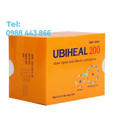 Ubiheal 200 (5 vỉ x 6 viên/hộp)