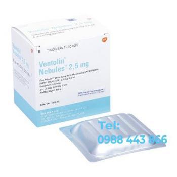 Ventolin Nebules (2.5mg) (6 vỉ x 5 ống đơn liều)