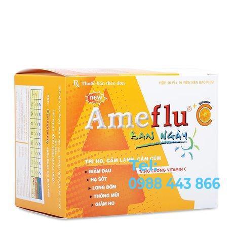 Ameflu + Vitamin C (10 vỉ x 10 viên/hộp)