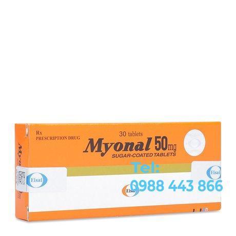 Myonal 50mg (3 vỉ x 10 viên/hộp)