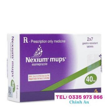Nexium mups 40mg (2 vỉ x 7 viên/hộp)