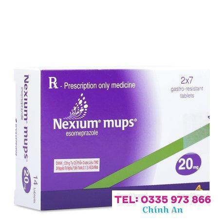 Nexium Mups Esomeprazole 20mg (2 vỉ x 7 viên/hộp)