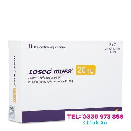 Losec Mups 20mg (2 vỉ x 7 viên/hộp)