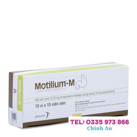 Motilium-M 10mg (10 vỉ x 10 viên/hộp)