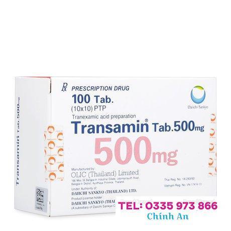 Transamin 500mg (10 vỉ x 10 viên/hộp)