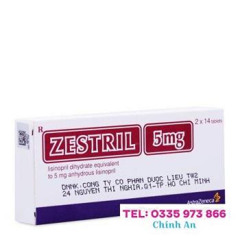 Zestril 5mg (2 vỉ x 14 viên/hộp)