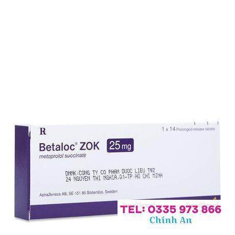Betaloc ZOK 25mg (14 vỉ x 2 viên/hộp)
