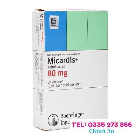 Micardis 80mg (3 vỉ x 10 viên/hộp)
