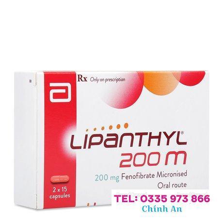 Lipanthyl 200mg (2 vỉ x 15 viên/hộp)