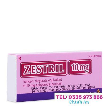 Zestril 10mg (2 vỉ x 14 viên/hộp)