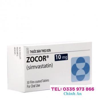 Zocor 10mg (2 vỉ x 15 viên/hộp)