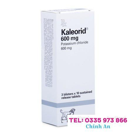 Kaleorid 600mg (3 vỉ x 10 viên/hộp)