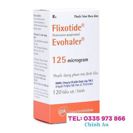 Flixotide Evohaler 125mcg (1 bình xịt 120 liều/hộp)